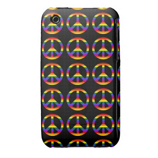 Rainbow Gay Pride Peace Symbol iPhone 3 Cover