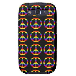 Rainbow Gay Pride Peace Symbol Galaxy S3 Cases