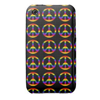 Rainbow Gay Pride Peace Symbol iPhone 3 Case