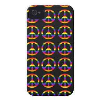 Rainbow Gay Pride Peace Symbol iPhone 4 Case-Mate Cases
