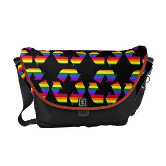 Rainbow Gay Pride Recycle Symbol Messenger Bag