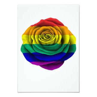 Rainbow Gay Pride Rose Flag Card