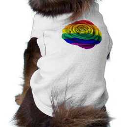 Rainbow Gay Pride Rose Flag Tee