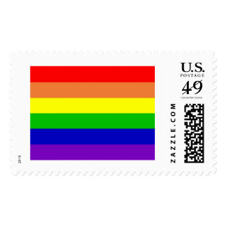 Rainbow Gay Rights Flag Stamp
