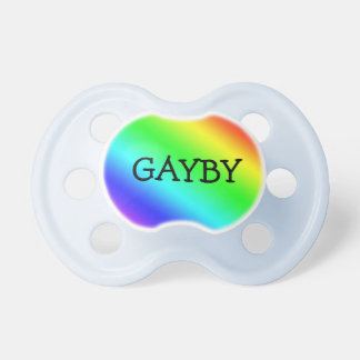 "Rainbow ""Gayby"" Pacifier"