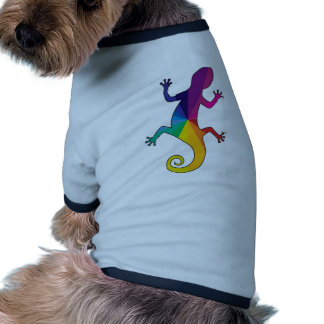 Rainbow Gecko Doggie Tee Shirt