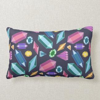 Rainbow Gems Lumbar Pillow