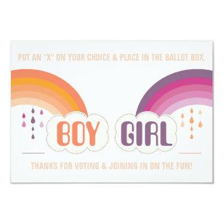 RAINBOW GENDER REVEAL VOTING BALLOT Invitation
