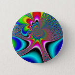 Rainbow Generator - Fractal Pinback Button