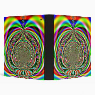 Rainbow Genies Lamp Fractal Binder