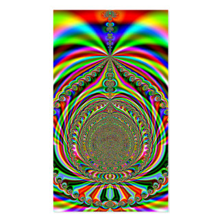 Rainbow Genies Lamp Fractal Business Card