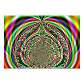Rainbow Genies Lamp Fractal Personalized Announcements