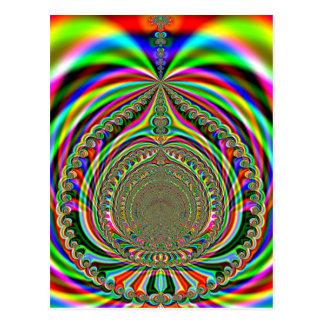 Rainbow Genies Lamp Fractal Postcards