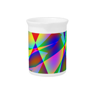 Rainbow Geo Pitcher