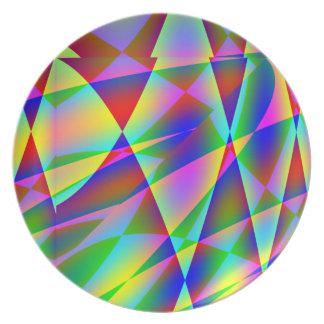 Rainbow Geo Plate