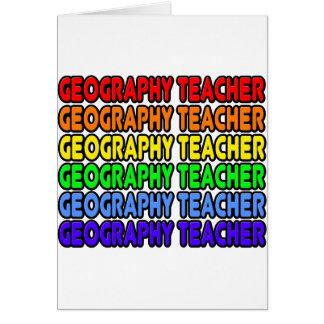 Rainbow Geography Teacher Card