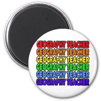 Rainbow Geography Teacher Fridge Magnets