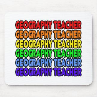Rainbow Geography Teacher Mouse Pad