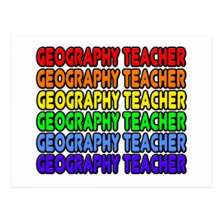 Rainbow Geography Teacher Post Card