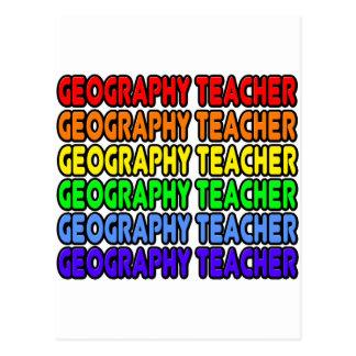 Rainbow Geography Teacher Postcards