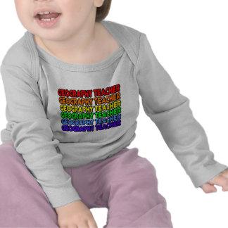 Rainbow Geography Teacher Tee Shirt