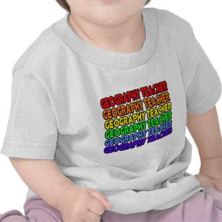 Rainbow Geography Teacher Tshirt