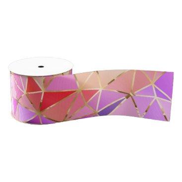Professional Business Rainbow geometric pattern grosgrain ribbon