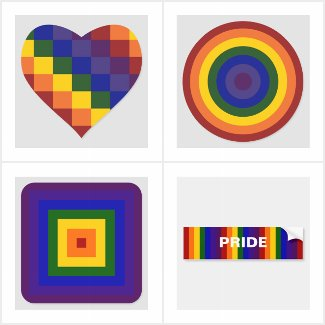 Rainbow Geometric Pattern LGBT Pride Stickers