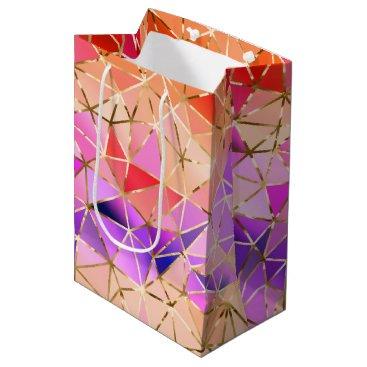 Professional Business Rainbow geometric pattern medium gift bag