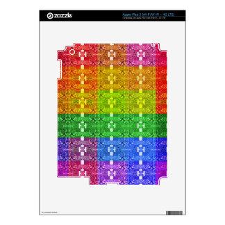 Rainbow Geometric Pattern Print Decal For iPad 3