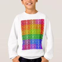 Rainbow Geometric Pattern Print Sweatshirt