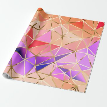 Professional Business Rainbow geometric pattern wrapping paper
