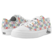 Rainbow Geometric Pinwheel Pattern Low-Top Sneakers