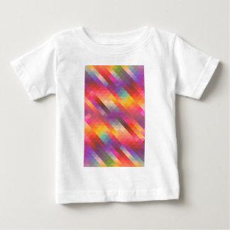 Rainbow Geometric Tetris Squares - Modern Pattern Baby T-Shirt