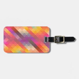 Rainbow Geometric Tetris Squares - Modern Pattern Luggage Tag