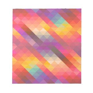 Rainbow Geometric Tetris Squares - Modern Pattern Notepad