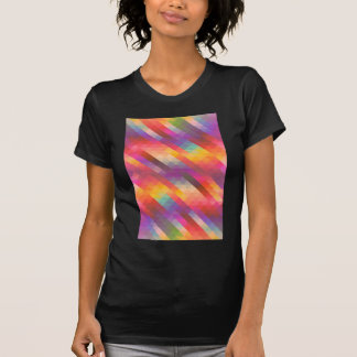 Rainbow Geometric Tetris Squares - Modern Pattern T-Shirt