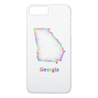 Rainbow Georgia map iPhone 7 Plus Case