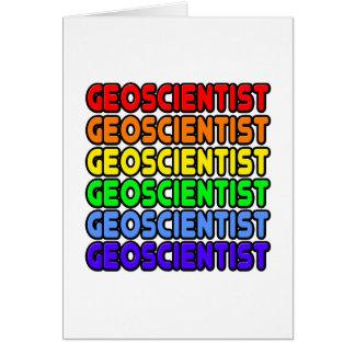 Rainbow Geoscientist Greeting Card