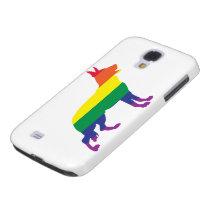 Rainbow German Shepherd Galaxy S4 Cover