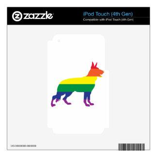 Rainbow German Shepherd iPod Touch 4G Skins
