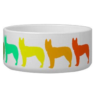 Rainbow German Shepherd Pet Bowl