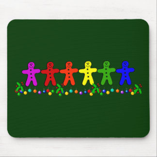 Rainbow Gingerbread Mouse Pad
