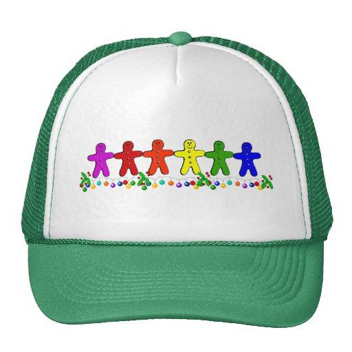 Rainbow Gingerbread Trucker Hat