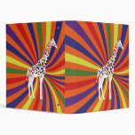 Rainbow Giraffe 3 Ring Binder
