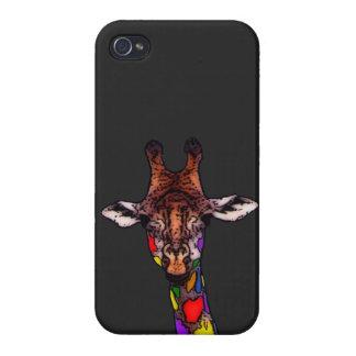 Rainbow Giraffe Case For iPhone 4