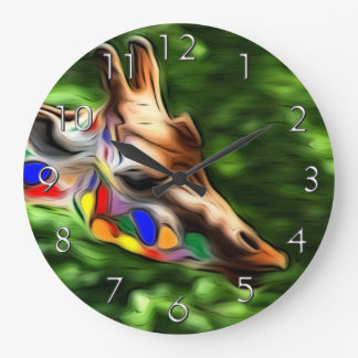 Rainbow Giraffe Wall Clocks