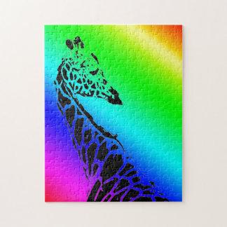 Rainbow Giraffe II Jigsaw Puzzle