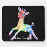 Rainbow Giraffe Mousepad