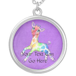Rainbow Giraffe Necklace